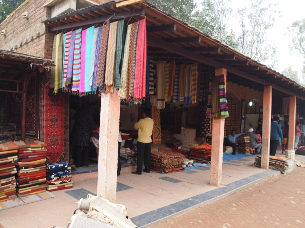 Dilli Haat market, much cleaner and nicer than the local market
