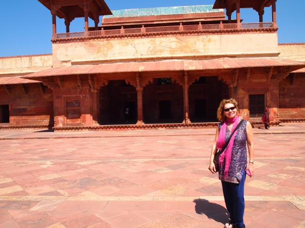 Jayne and The Palace of Jodh Bai, Akbar's Hindu wife...