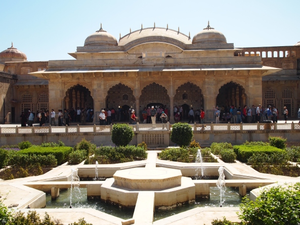 the mughal gardens and the palace of mirrors