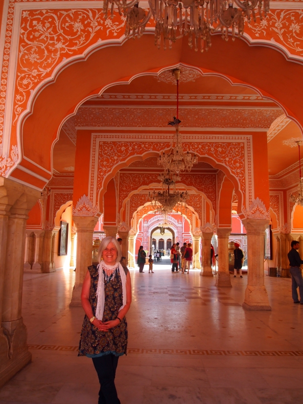 a pavilion in the Pink City's City Palace