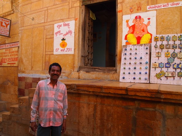 our guide at jaisalmer fort