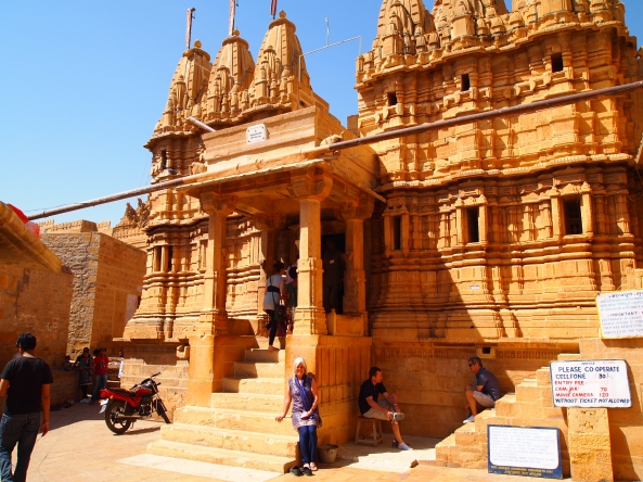 the first of the seven Jain temples in Jaisalmer Fort