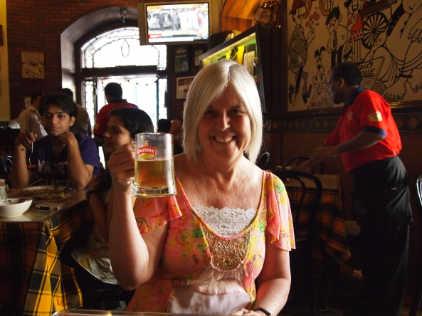 toasting to our travels in india ~ our last day!