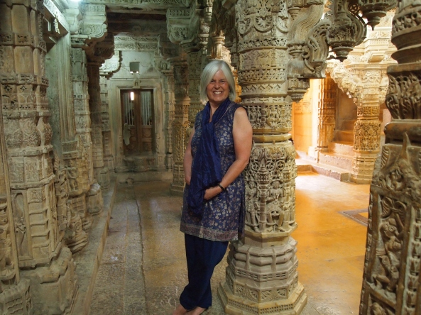 inside one of the cool Jain temples