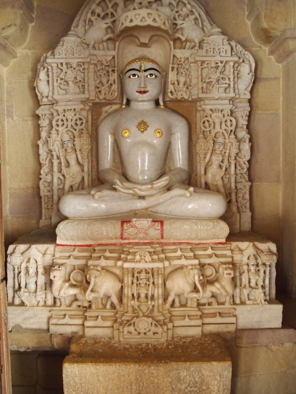 beautiful Hindu gods inside the jain temples