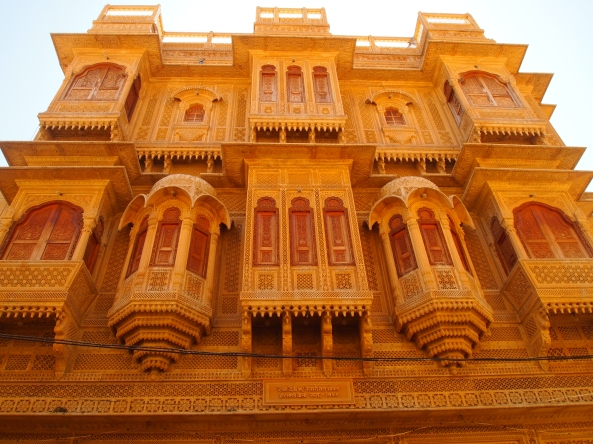 one of the many gorgeous havelis in jaisalmer