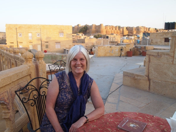 at Saffron with Jaisalmer Fort in the background