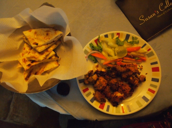 fish tikka and garlic naan :-)