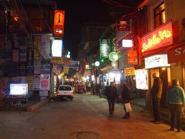 the tourist area of Thamel outside of Kathmandu Guest House