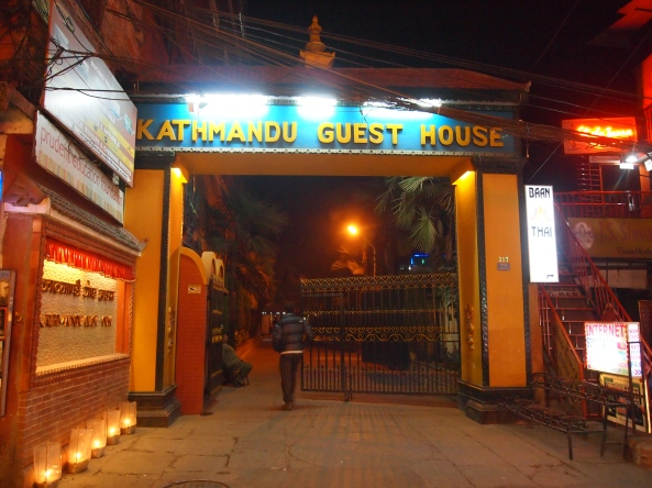 the entrance to Kathmandu Guest House