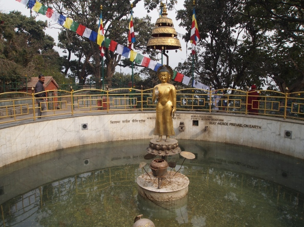 a wishing pool near Swayambhu
