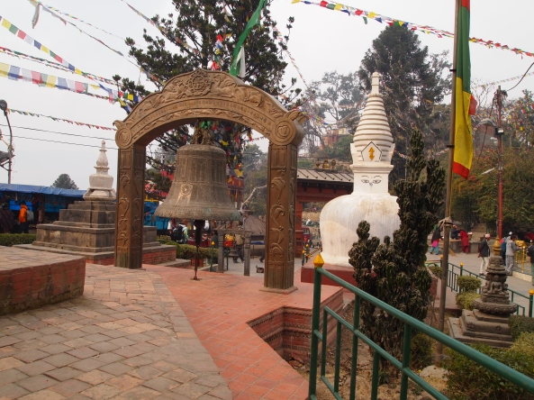 coming upon Swayambhu