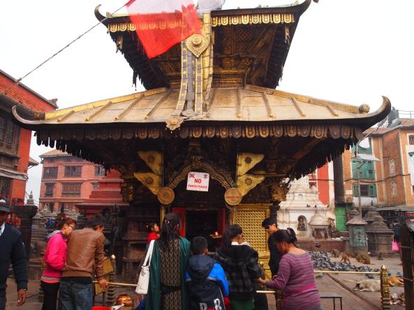 the gilt-roofed temple of Harati Mandir