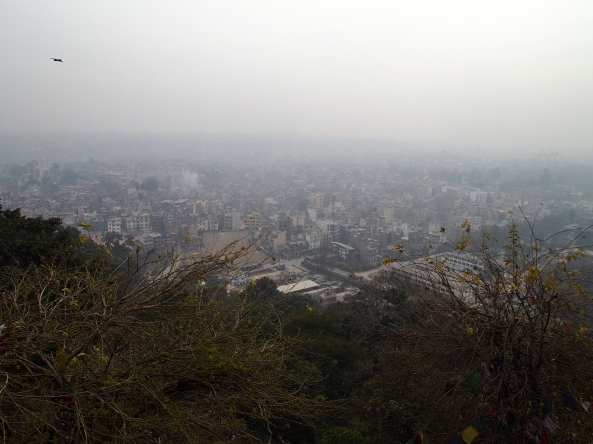 the view of Kathmandu from Swayambhu