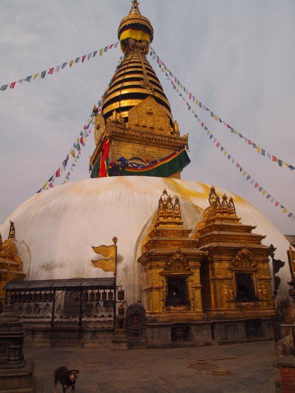 around and around the stupa