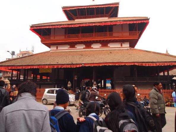 the outside of Kasthamandap
