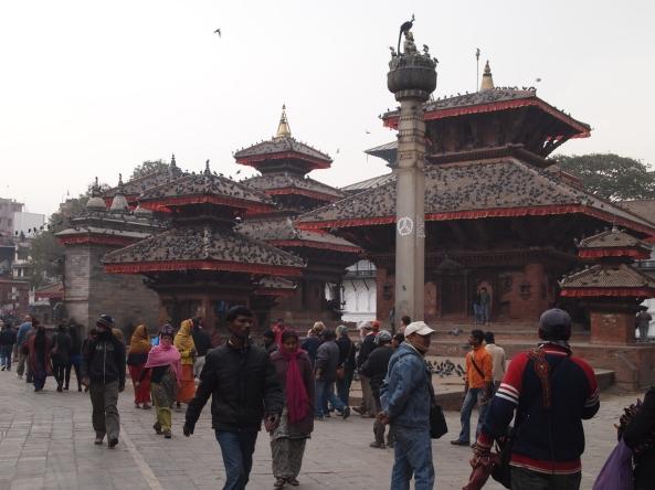 Column of King Pratap Malla and the Jagannath Mandir
