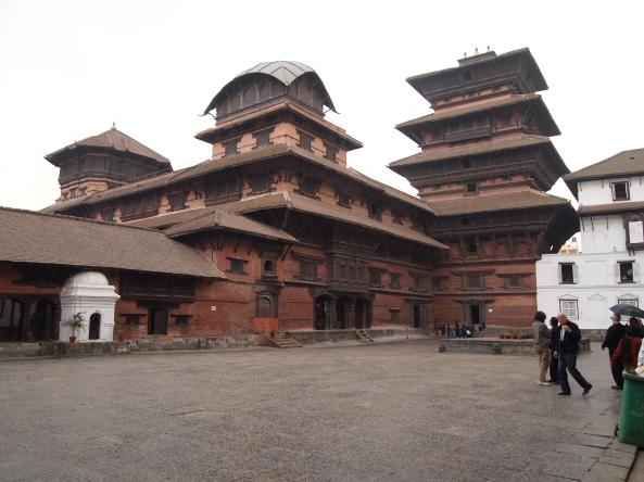 Nassal Chowk, the interior courtyard of the Old Royal Palace (Hanuman Dhoka)