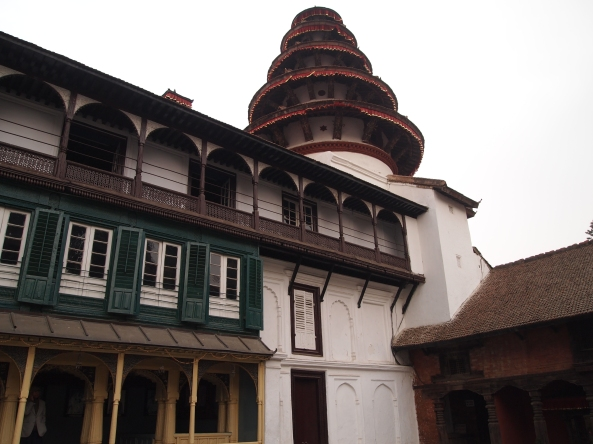 Panch Mukhi Hanuman Mandir - a five-tiered pagoda like turret