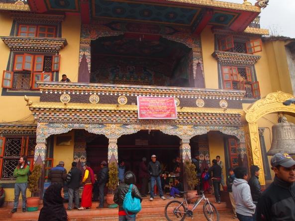 entrance to Tamang gompa