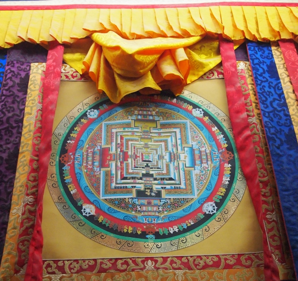 a mandala thangka