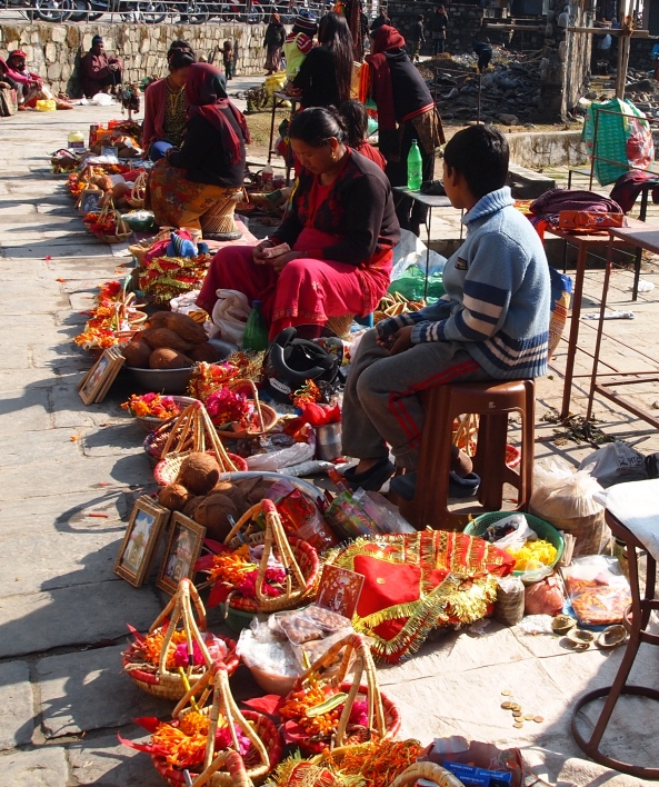 offerings for sale outside of the temple