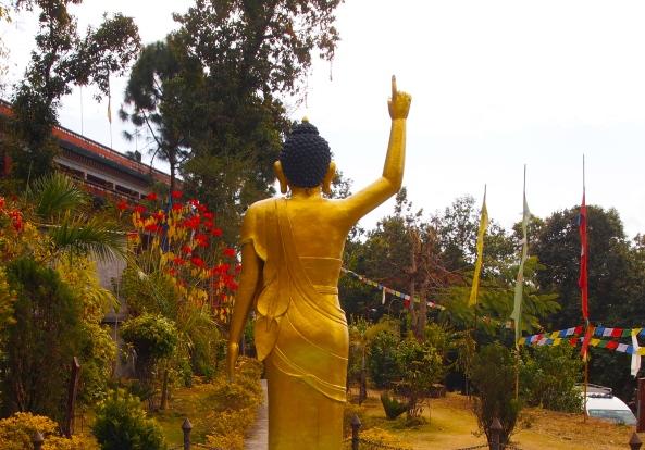 in the monastery garden