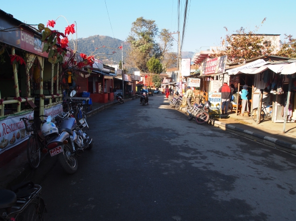 the streets of Pokhara