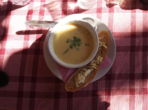 pumpkin soup & garlic toast