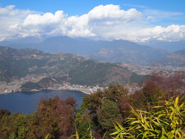 Pokhara from the Peace Pagoda