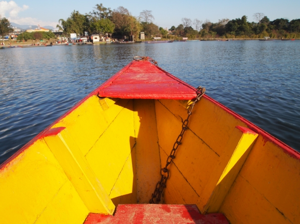 our colorful rowboat