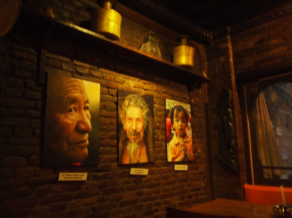 "the ""warm room"" at New Orleans Cafe in Kathmandu"