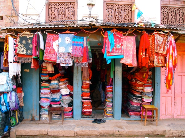 brightly colored goods for sale