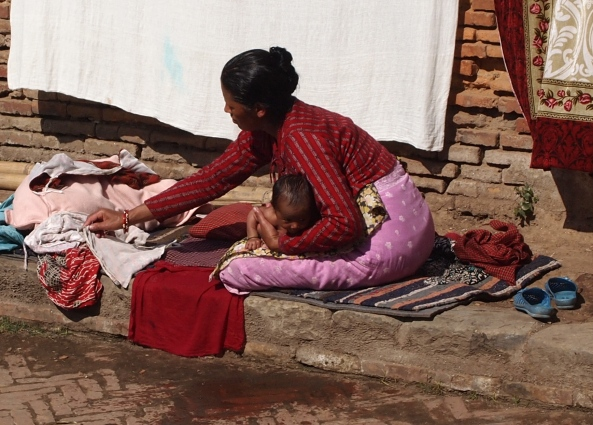 women wash their babies every day for the first 6 months