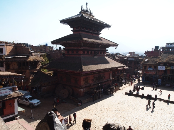 Bhairabnath Mandir from the top of Nyatapola
