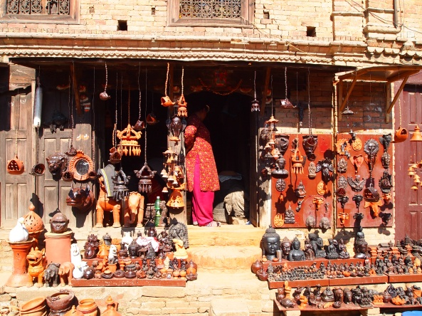 a shop selling pottery made at Potter's Square