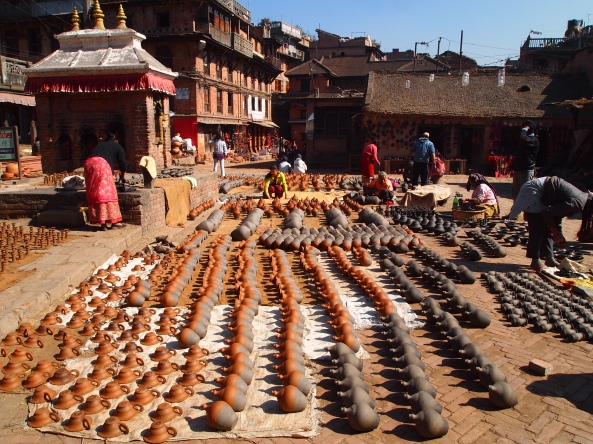 Potter's Square in Bhaktapur