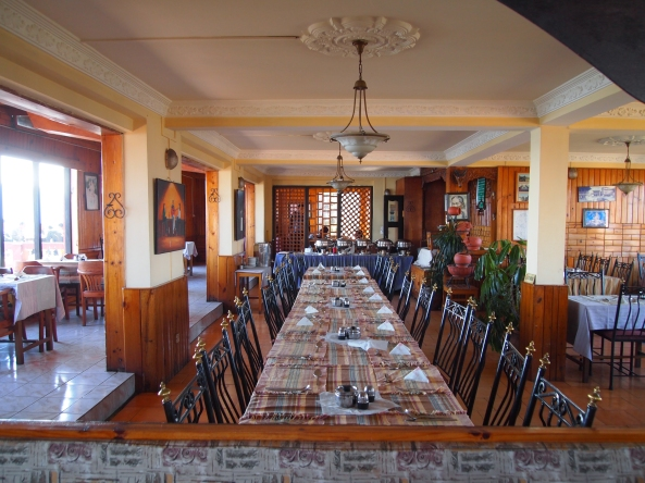 the dining room at Hotel View Point