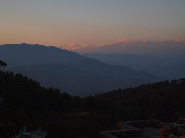 sunset over the Langtang Range