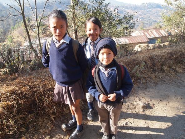 Nepali schoolchildren