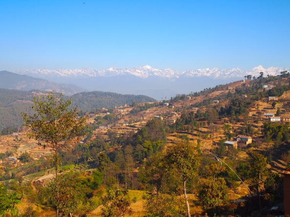 the snow-capped Himalayas