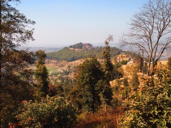 Changu Narayan on the hilltop ahead