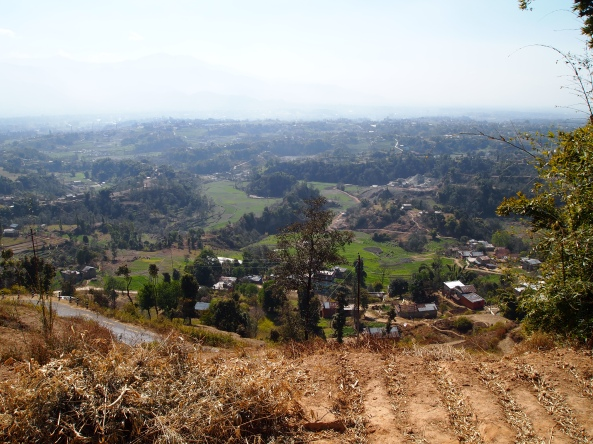 my last views of Kathmandu Valley before we get to the temple