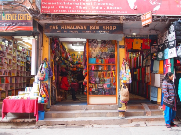 Colorful shops in Thamel