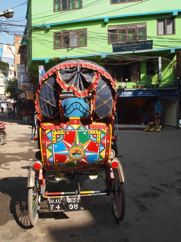colorful rickshaw