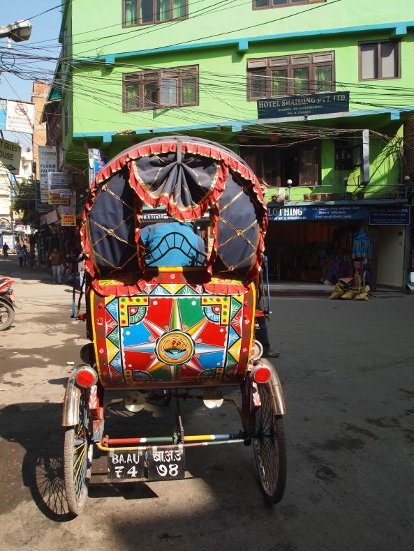 colorful rickshaw