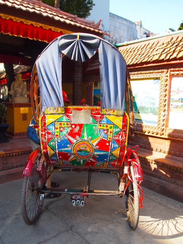 another colorful rickshaw