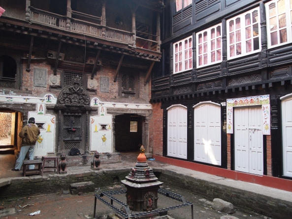 Is this the courtyard of a Buddhist monastery where the Bhaktapur Kumari lives???