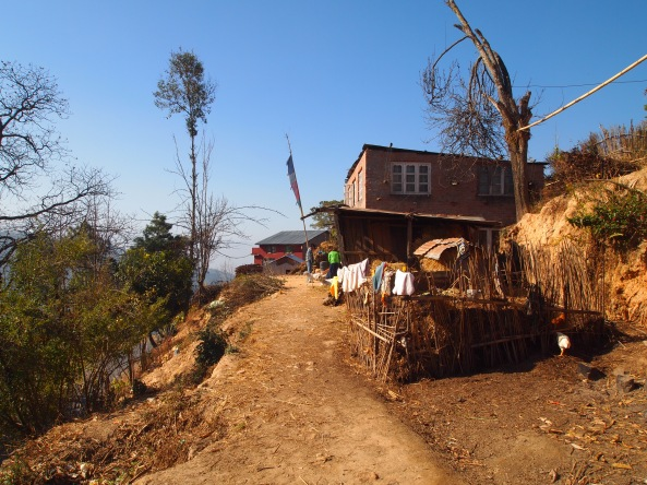 moving FORWARD down the path to Changu Narayan