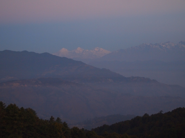sunrise on the Langtang Range